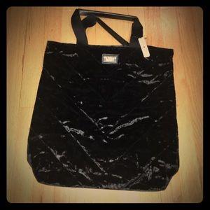 Victoria's Secret Velvet Black Tote Bag